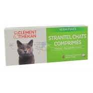 Clément Thékan Vermifuges Strantel Chats x 4