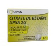 UPSA Citrate de Bétaïne Citron Sans Sucre 2 g