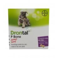 Drontal Arôme Boeuf Comprimés Sécables Pour Chien x 2