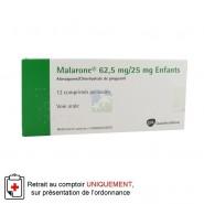 Malarone 62,5/25 mg Enfants Comprimés pelliculés x 12