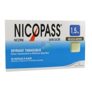 Nicopass 1,5 mg Pastilles Réglisse Menthe x 36