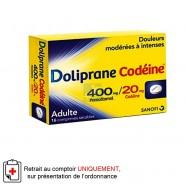 Doliprane Codéine 400/20 mg x 16