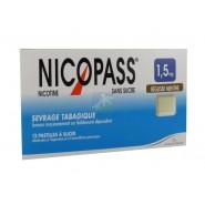 Nicopass 1,5 mg Pastilles Réglisse Menthe x 12