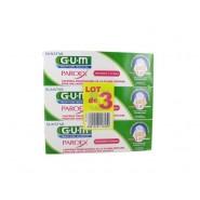 GUM Dentifrice Paroex 3 x 75 ml