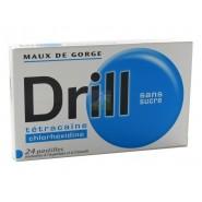 Drill Tétracaïne Pastilles Sans Sucre x 24