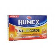 Humex Mal de Gorge Lidocaïne Miel Citron Pastilles Sans Sucre x 24
