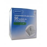 Alvita Compresses De Gaze Stériles 10 cm x 10 cm x 50