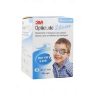3M Opticlude Silicone 5.3 x 7.0 cm Garçons Pansements x 50