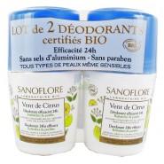 Sanoflore Vent de Citrus 24h 2 x 50 ml