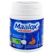 Maalox Maux d'estomac Menthe Comprimés à croquer x 40