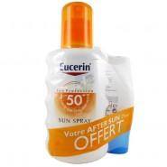 Eucerin Coffret Sun Spray 50+ 200 ml + After Sun Lotion 50 ml OFFERT