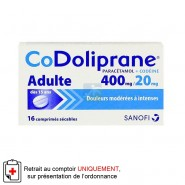 Codoliprane 400 mg / 20 mg x 16