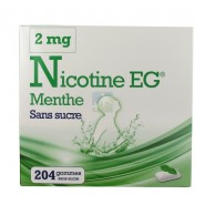 EG Nicotine Menthe Gommes Sans Sucre 2 mg x 204