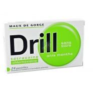 Drill Pastilles Sans Sucre Anis Menthe x 24