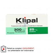Klipal Codéine 300 mg/25 mg x 16